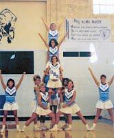 1992 Cheerleaders in Phillips Field House