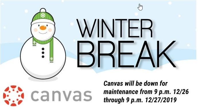Canvas down 12/26-12/27/2019
