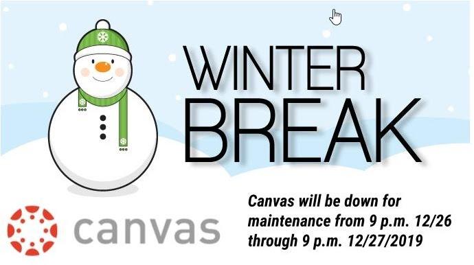 Canvas down 12/26-12/27/2019