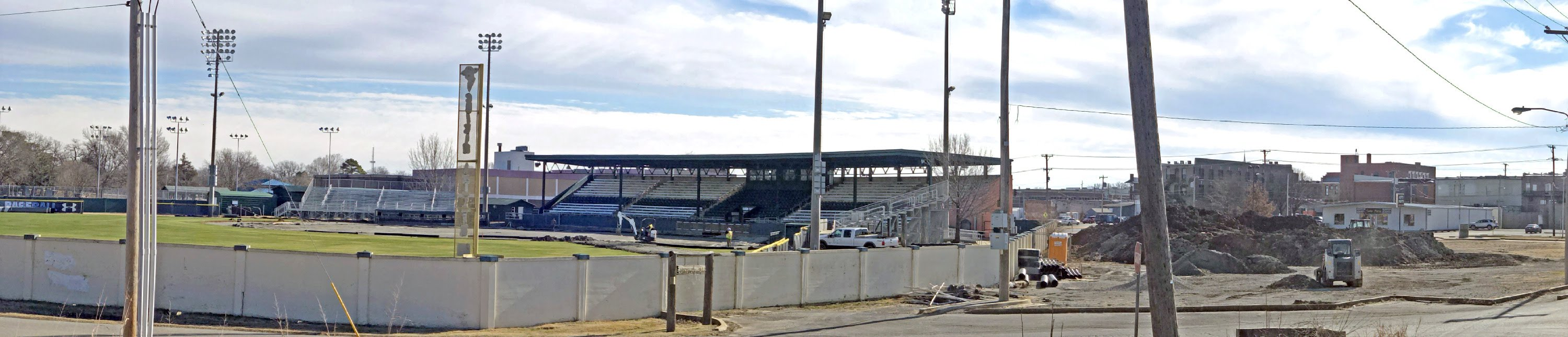 Doenges Stadium infield removal
