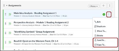 Sharing an assignment