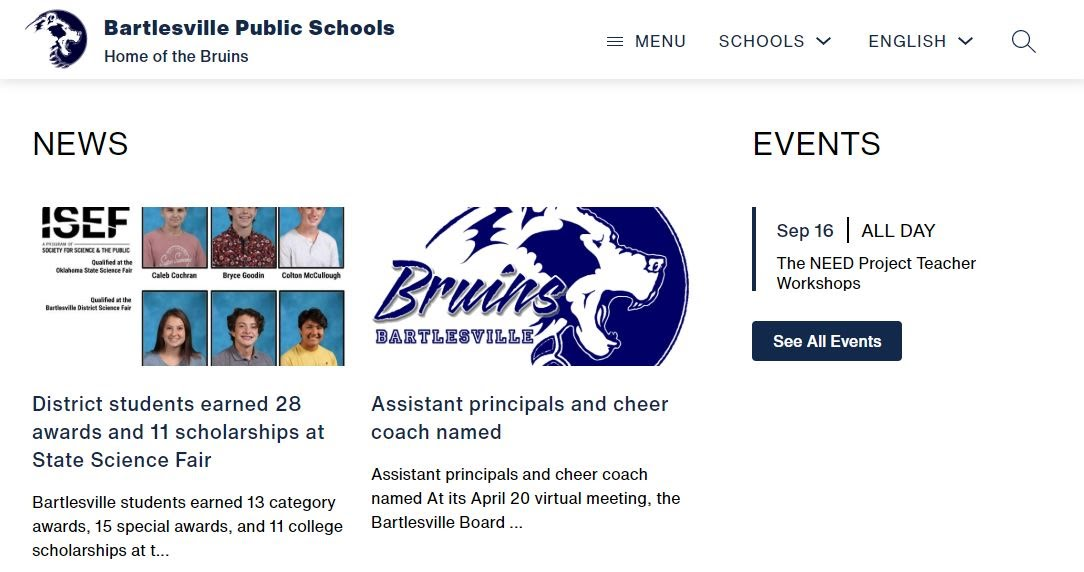 New district website coming