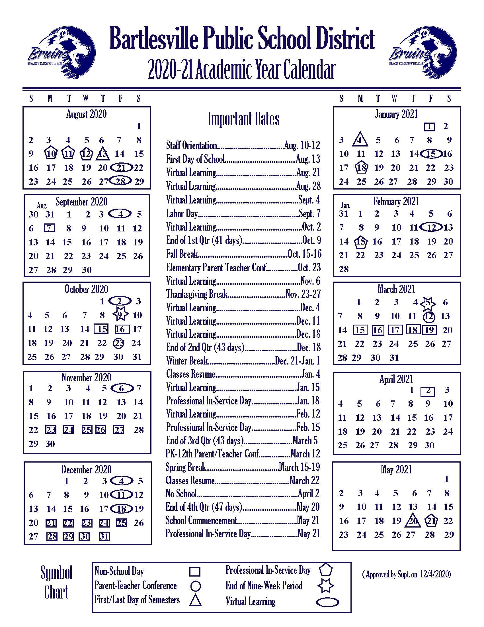 Bps Calendar 2022.Academic Year Calendars Former Bps Website