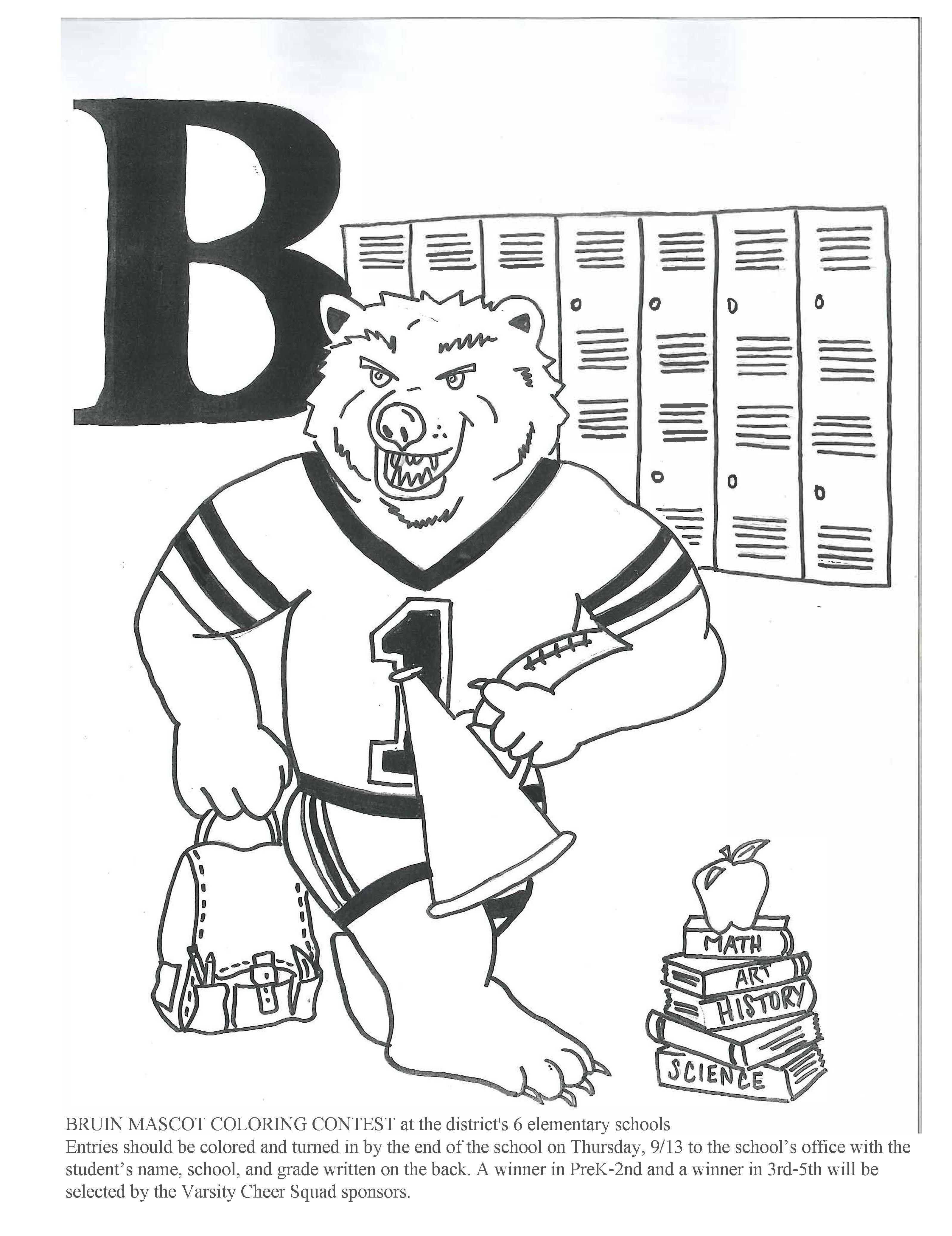 Mascot Coloring Sheet