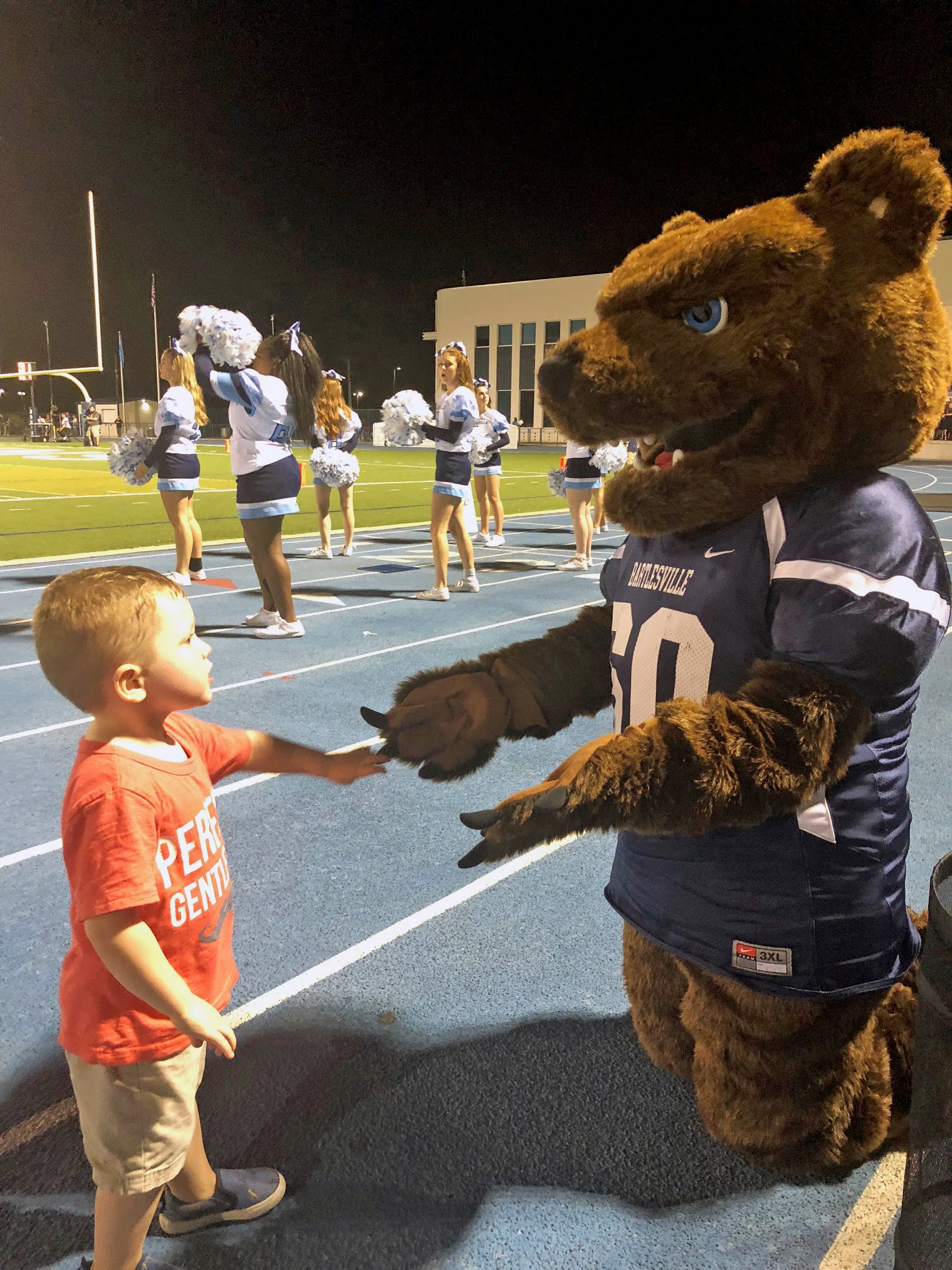 Bruiser the Bruin and friend