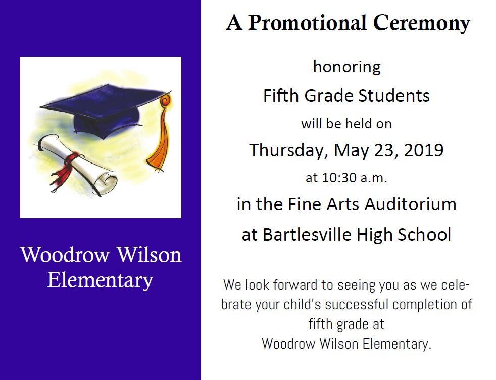 Wilson Promotion Ceremony