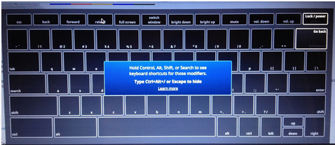 f7d1f3585c2 Press and hold each key (Ctrl, Alt, and Search; located in between tab and  the left shift key)