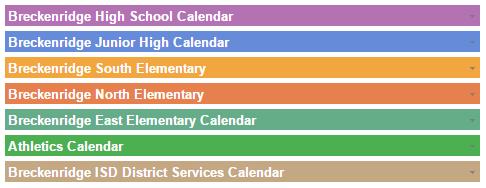 Calendar Color Code
