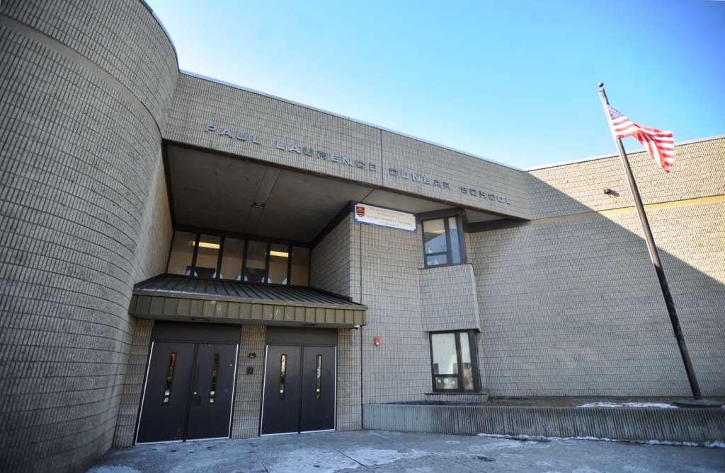 Image of entrance of Dunbar School