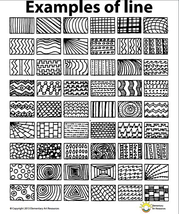 Kinds Of Lines In Art And Its Meaning : Lesson one element of line year