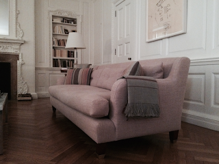 Brooklyn Workroom upholstery restoration recover reupholster classical sofa