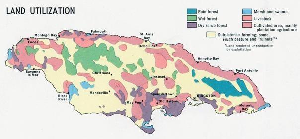 Jamaica Parishes Map