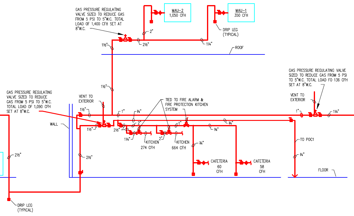 Residential Natural Gas Piping Diagram Trusted Wiring Diagrams Riser Medical Illustration Of U2022 Line