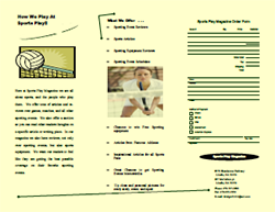 This is a thumbnail image of and link to a .pdf (portable document file) version of a brochure about Sports that was created with Microsoft Word.
