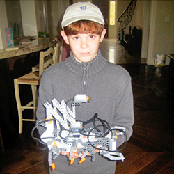 This is an image of a student who participated in the Robotics category of the Technology Fair.