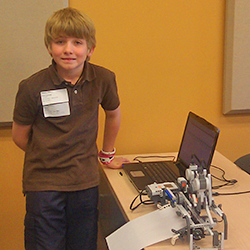 This is an image of another student who participated in the Robotics category of the Technology Fair.