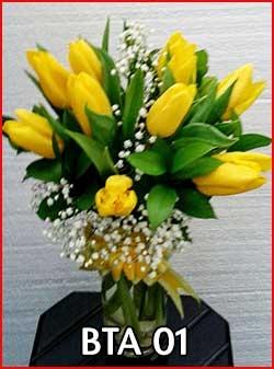 Bunga Tulip Warna Kuning