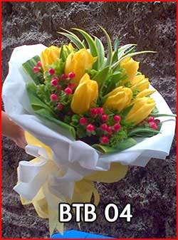 Hand buket tulip Kunig