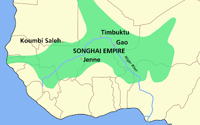 Ghana Empire Map Step 6: Songhai   Africa Project Bville