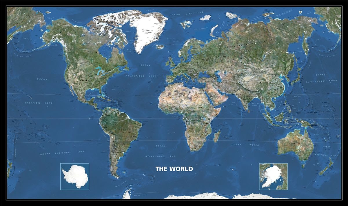 Geography And World Rivers The Third Peak - World satellite map current