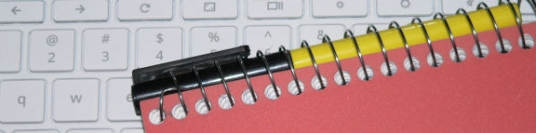 image of keyboard and notebook