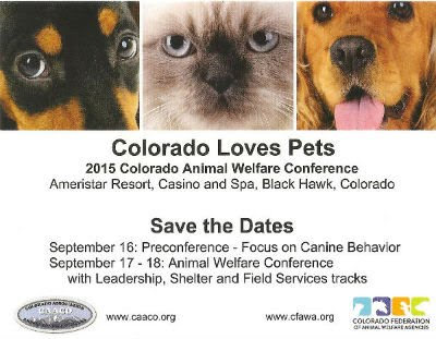 Colorado Animal Welfare Conference Post Card