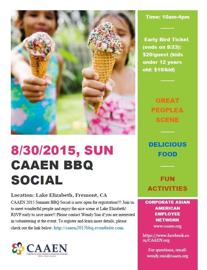 CAAEN 2015 Summer BBQ Social (8/30/2015)