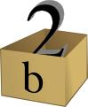 value 2 in box b
