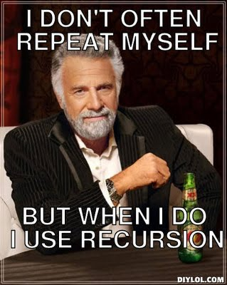 Recursion is interesting