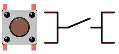 Pushbutton and schematic symbol