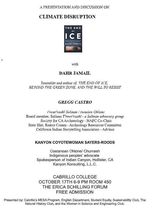End of Ice- Dahr Jamail, Greg Castro, & Kanyon Sayers-Rood Flyer