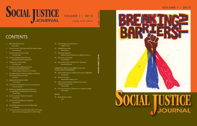 Social Justice Journal Volume 1 · 2012, cover