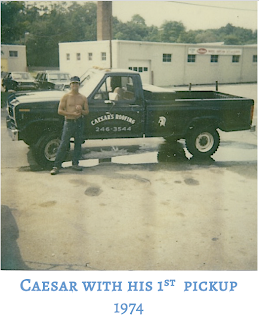 Caesars's Roofing; Caesar with Pick-up