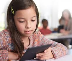 Student Reading a Kindle