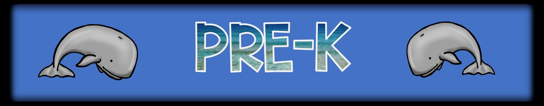 banner reading pre-k