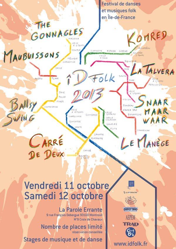 Affiche Festival IDfolk à Montreuil