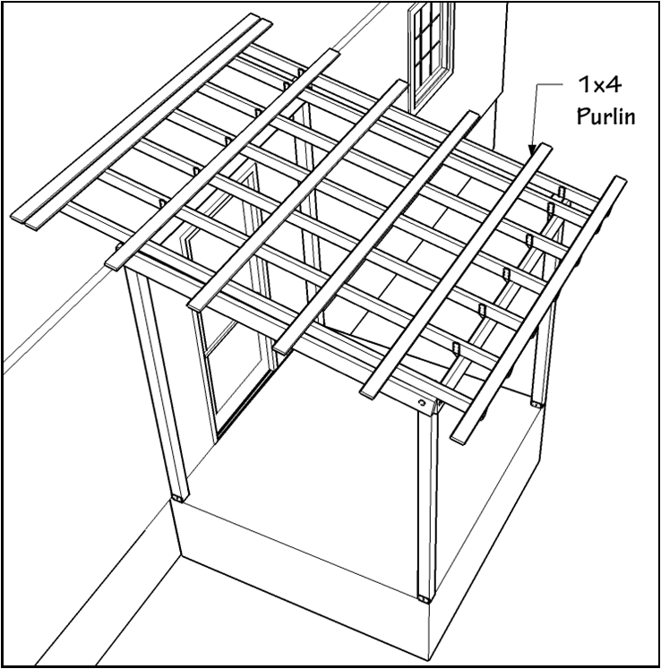 A Porch Roof Components