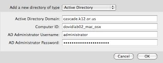 Directory Authentication Between Mac OS X and Active