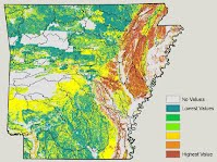 Soil Quality Degradation, Organic Matter Map