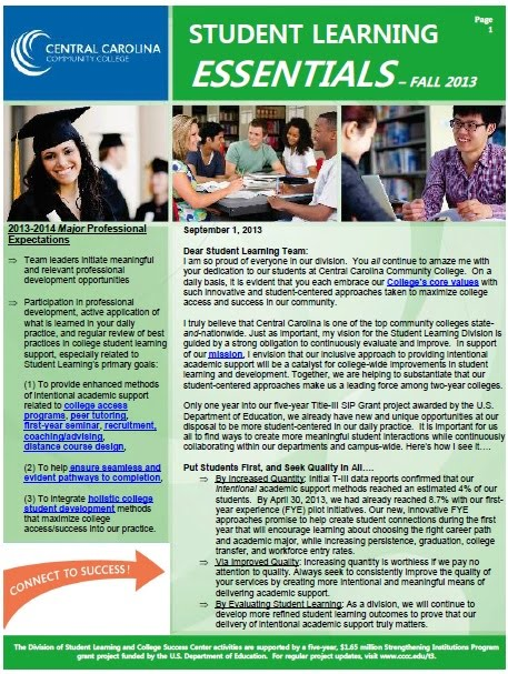Student Learning Essentials Newsletter