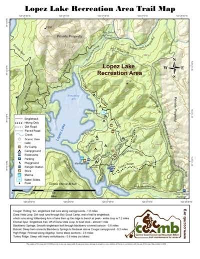 lopez lake campground map Lopez Lake Regional Park Map Cccmb lopez lake campground map