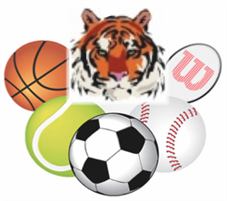 Clipart of Tiger and Balls