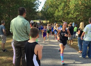 Student athletes compete at a meet.