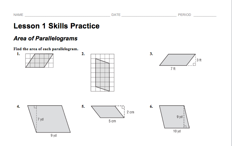 Screen Shot 20150220 at 100039 AMpng – Area of Parallelograms Worksheet