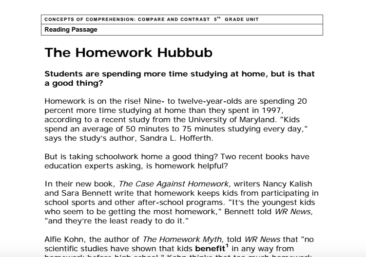the homework hubbub answers
