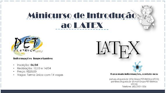 PET Elétrica Realizará Minicurso de Introdução ao LATEX