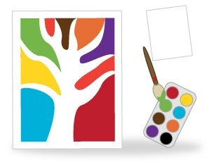 In Each Half Draw A Tree Similar To The One Image Paint Left With Primary Colours And Right Secondary