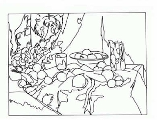 still life coloring pages - cezanne plastica