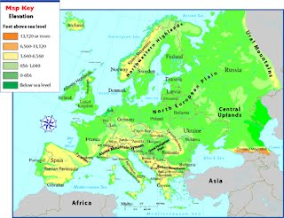 Physical Features Of Europe Map Unit 4 Europe   Mr. Reams Room