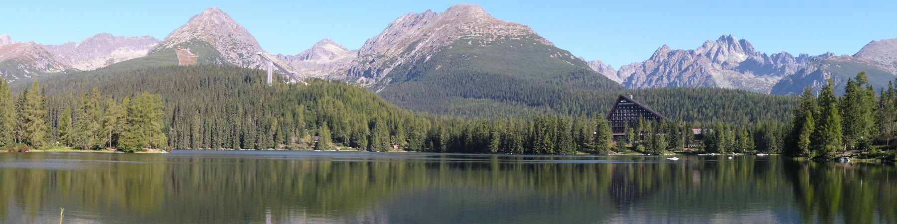 Strbske Pleso Lake in the High Tatras, Slovakia